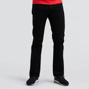 Black Levi's 501 Button Fly Straight Leg Jeans